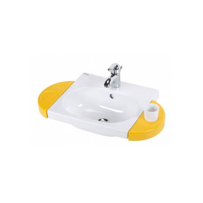 Lavabo suspendu WCKIDS 43 porte-savon et porte-verre Sanindusa