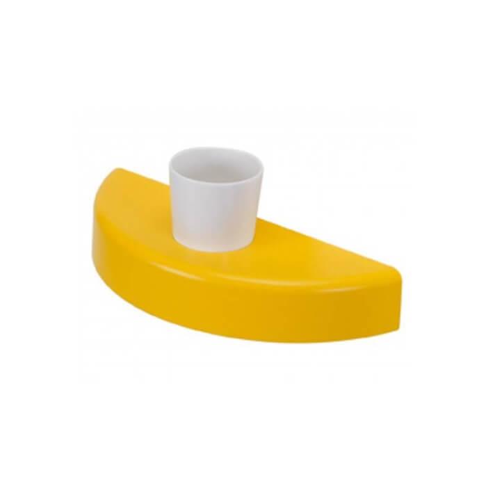 Porte-verres avec verre pour lavabo WCKIDS avec perçage pour accessoires Sanindusa