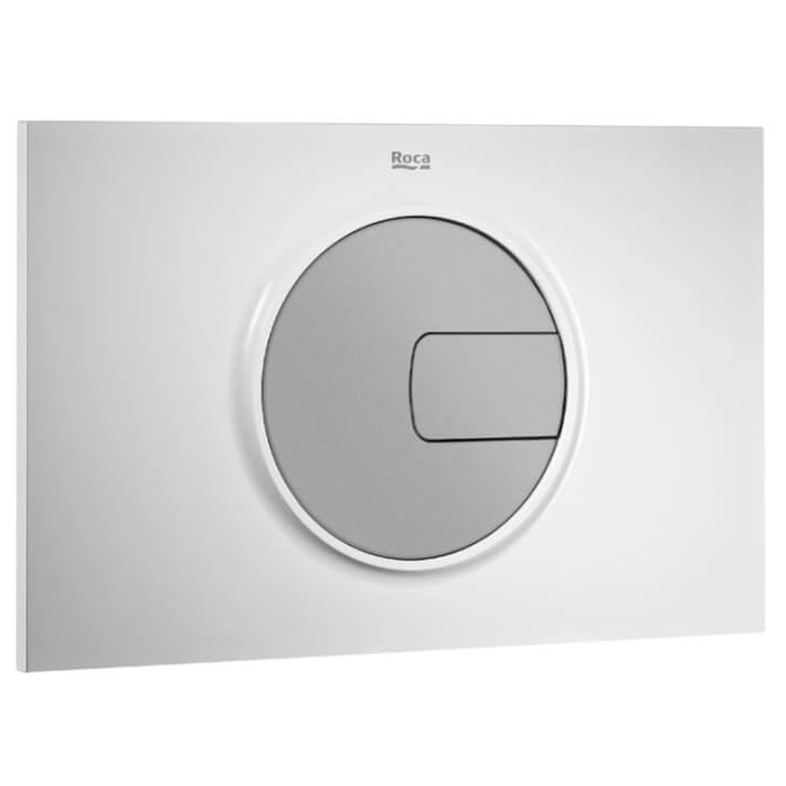 Placa PL4 blanco gris Dual One Roca