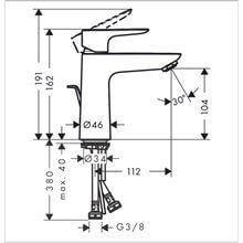 Robinet de lavabo mitigeur Talis 110 chrome...