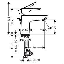Robinet de lavabo mitigeur Talis 80 CoolStart...