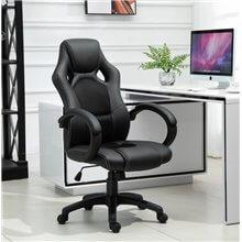Silla ejecutiva de oficina de color negro Homcom