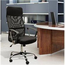 Silla de oficina ergonómica en color negro Homcom