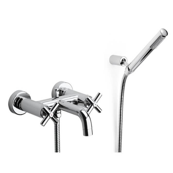 Robinet de baignoire-douche mélangeur manuel extérieur Loft Roca