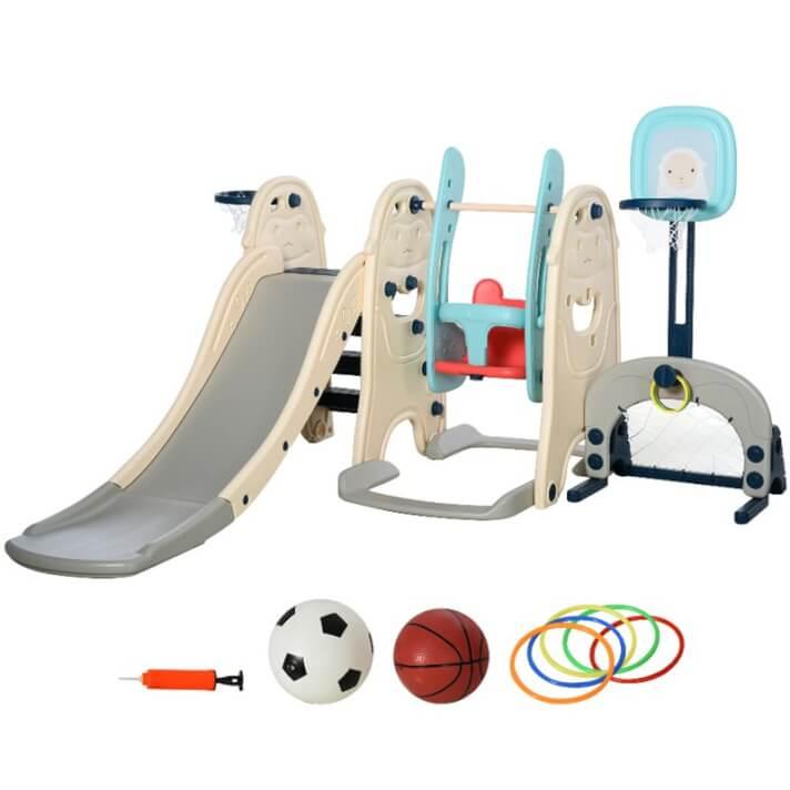 Parque de jogos infantil 5 em 1 multicolor Homcom