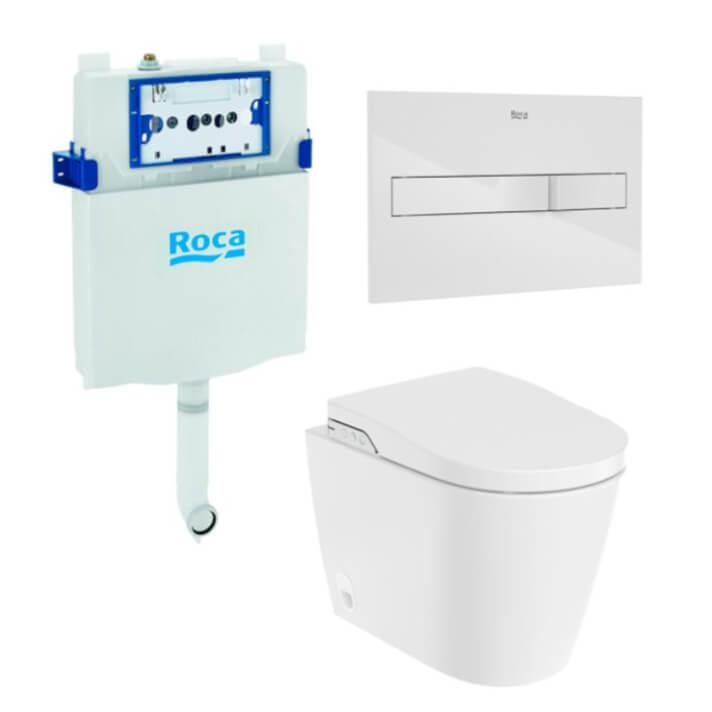 Pack smart One toilet Rimless In-Wash Inspira ROCA