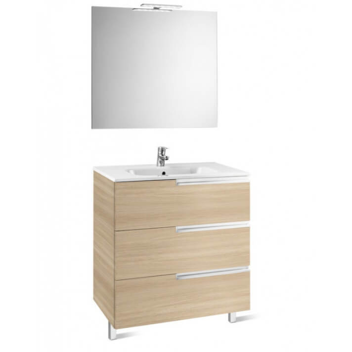 Mueble Pack Family roble 80cm Victoria-N Roca