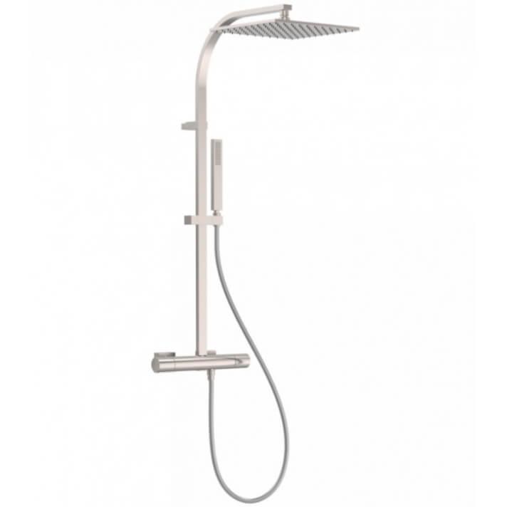 Columna de ducha termostática de acero PROJECT-TRES