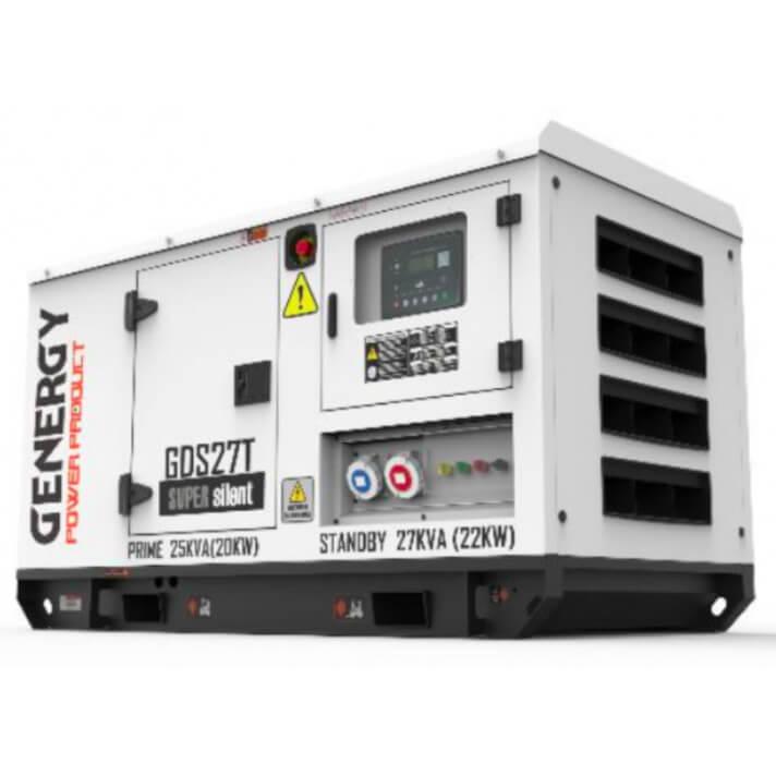 Generador 22000W GDS27T Silent Diesel Genergy