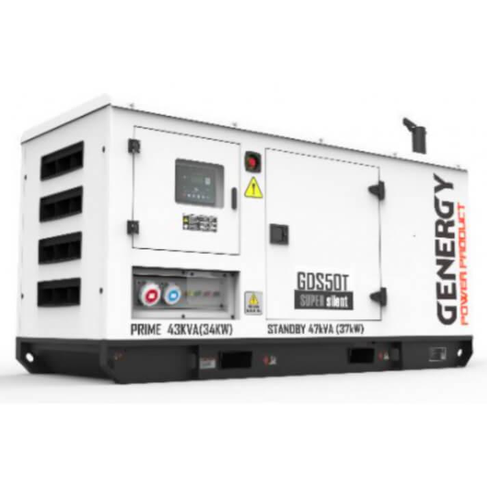 Generador 37000W GDS50T Silent Diesel Genergy