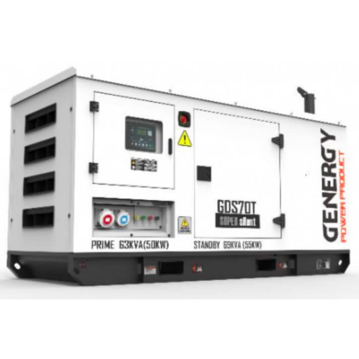 Generador 55000W GDS70T Silent Diesel Genergy