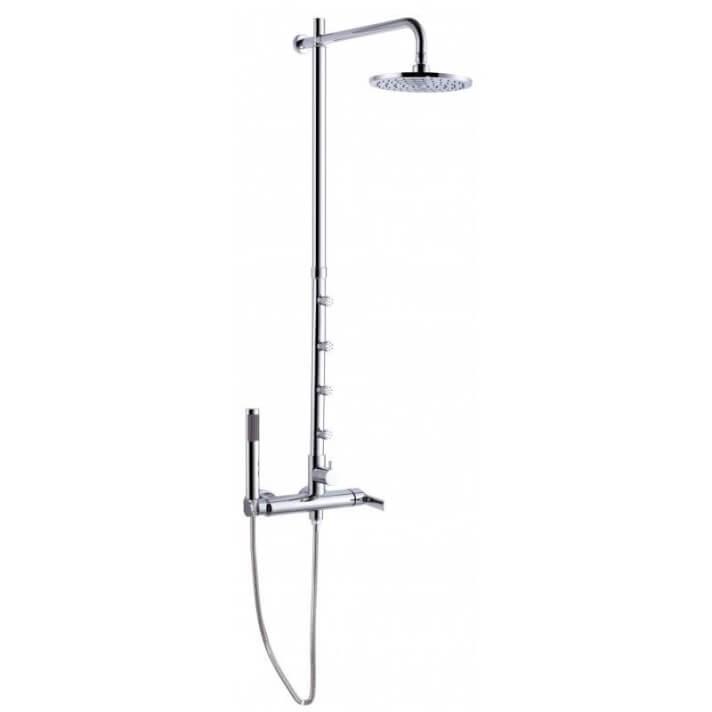 Coluna de duche de 4 jatos Mikura com kit de duche completo - CLEVER