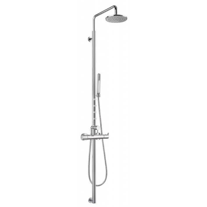 Columna termostática de 4 jets Caiman Elegance para la ducha
