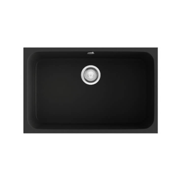 Fregadero de 1 cuba negro 74 x 44,5cm Gandia Poalgi