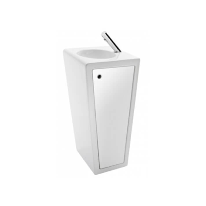 Lavabo con pedestal blanco BLOK Unisan