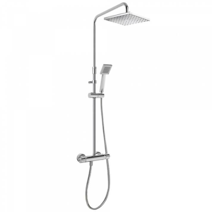 Conjunto de ducha termostática barra deslizante ECO FLAT TRES
