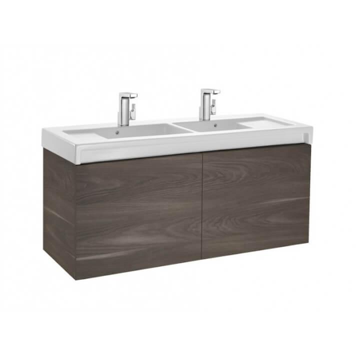 Mueble de baño con lavabo doble 130cm Yosemite Stratum Roca