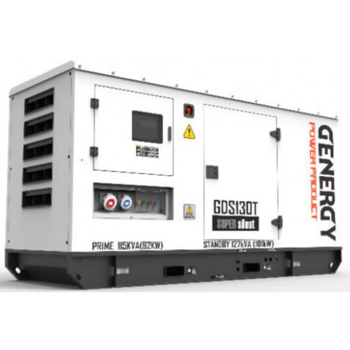 Generador 101000W GDS130T Silent Diesel Genergy