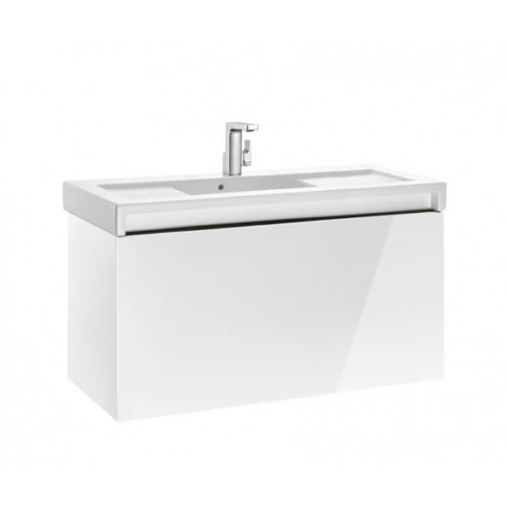 Mueble de baño con lavabo 110cm Blanco Brillo Stratum Roca