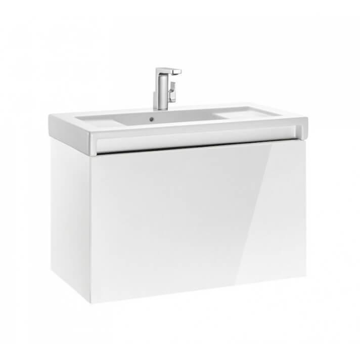 Mueble de baño con lavabo 90cm Blanco Brillo Stratum Roca