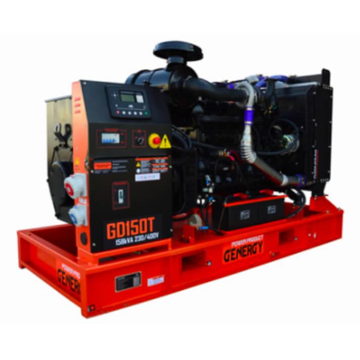 Generador 123000W GD150T Open Diesel Genergy