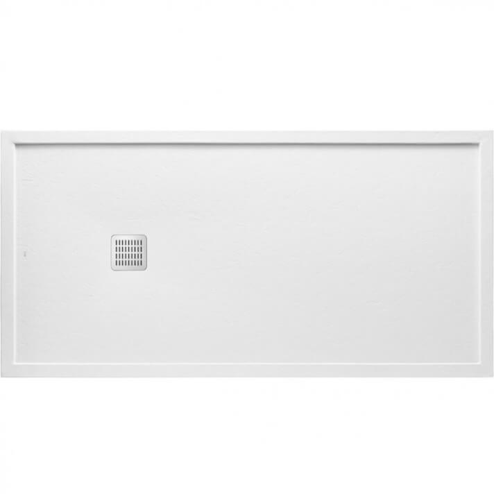 Plato de ducha 180x70cm blanco mate con marco Terran Roca