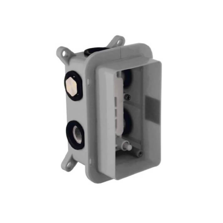 Boîtier de jonction pour douche thermostatique à encastrer à 2 ou 3 voies Clever