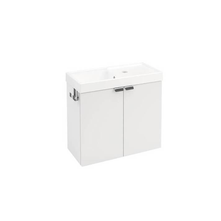 Meuble avec 2 portes 50 cm Blanc B-Box Bath+