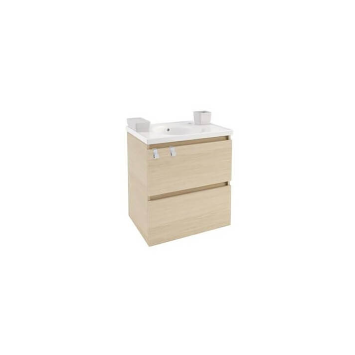 Mueble con lavabo porcelana 60cm Roble nature B-Box BATH+