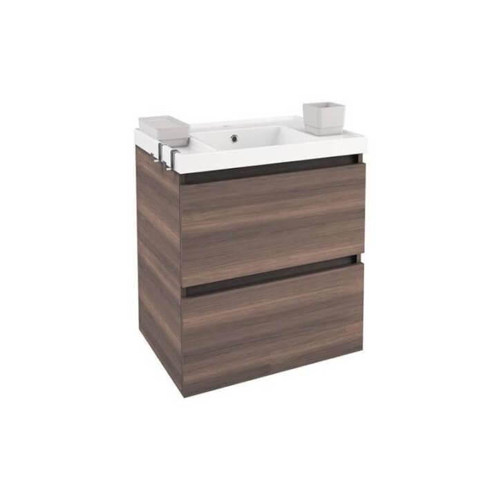 Meuble avec plan vasque en résine 60 cm Frêne B-Box Bath+