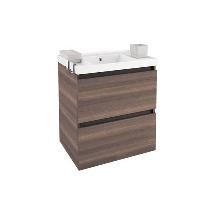 Mueble con lavabo resina 60cm Fresno B-Box BATH+