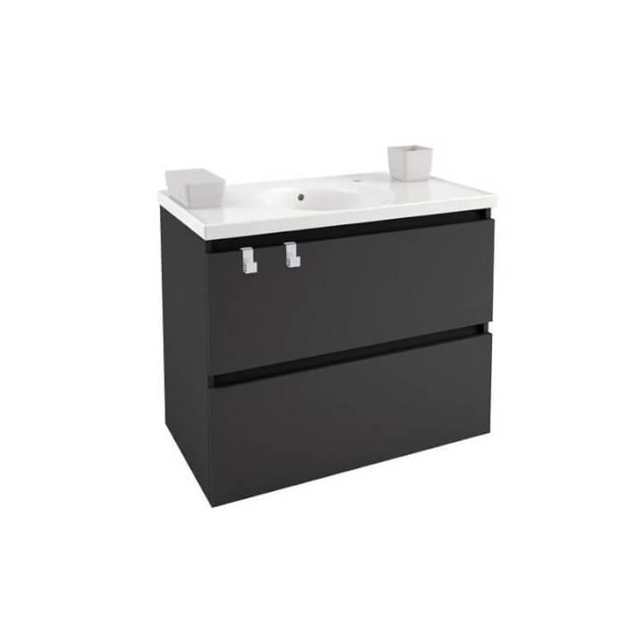Mobile con lavabo in porcellana 80 cm Antracite B-Box BATH+