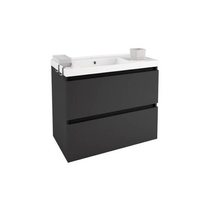 Mueble con lavabo resina 80cm Antracita B-Box BATH+