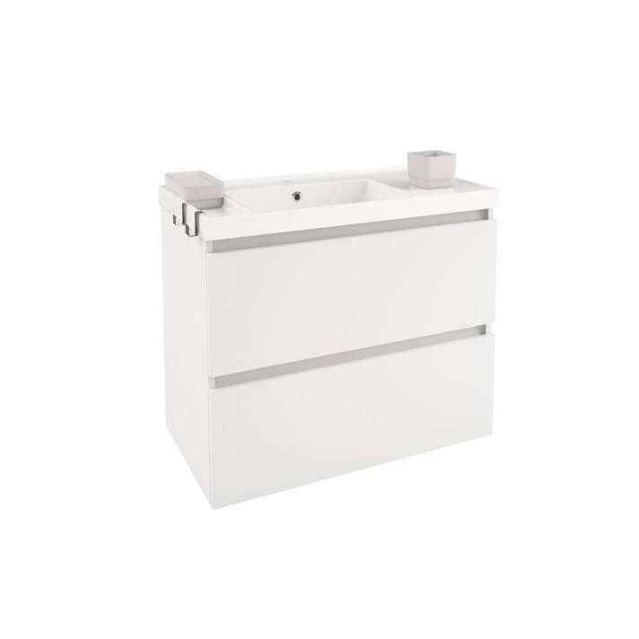 Mueble con lavabo resina 80cm Blanco B-Box BATH+