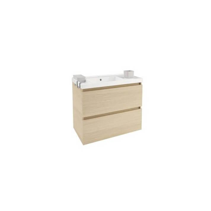 Mueble con lavabo resina 80cm Roble nature B-Box BATH+