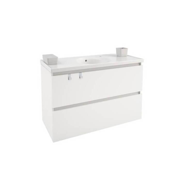 Mobile con lavabo in porcellana 100 cm Bianco B-Box BATH+