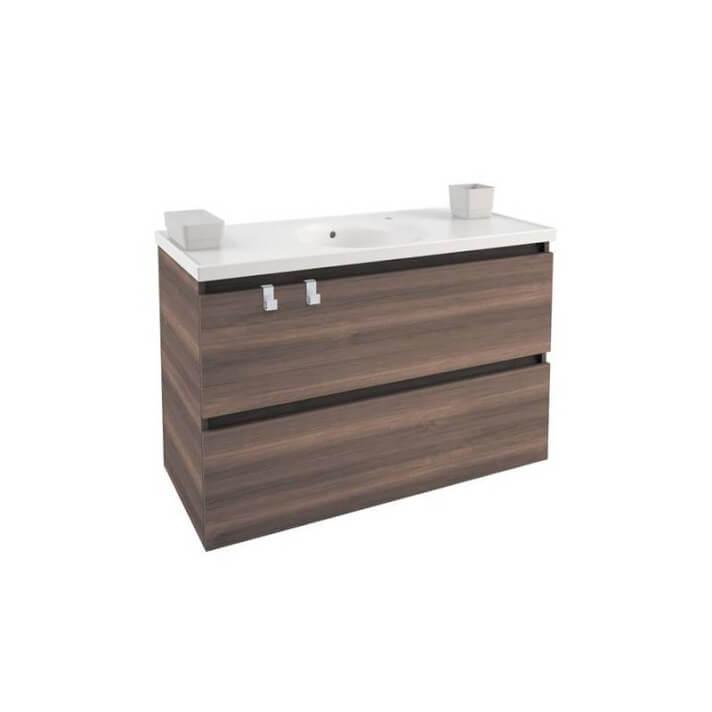 Mobile con lavabo in porcellana 100 cm Frassino B-Box BATH+
