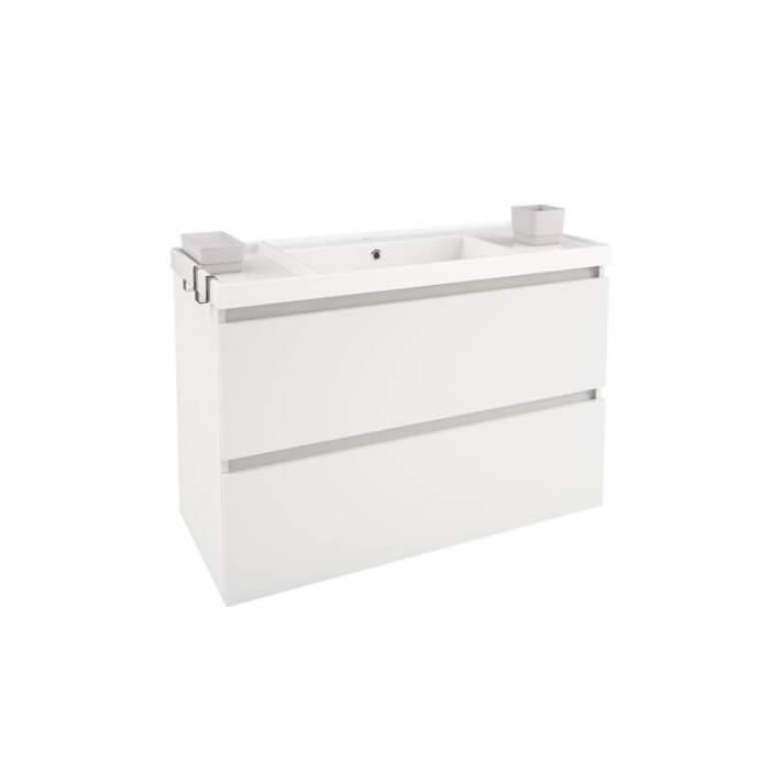 Mobile con lavabo in resina 100 cm Bianco B-Box BATH+