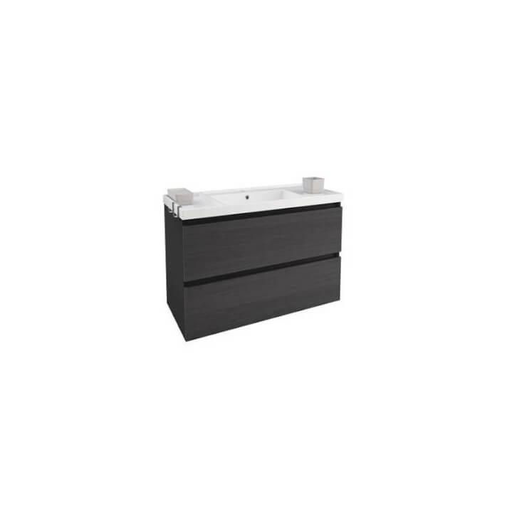 Mueble con lavabo resina 100cm Antracita B-Box BATH+