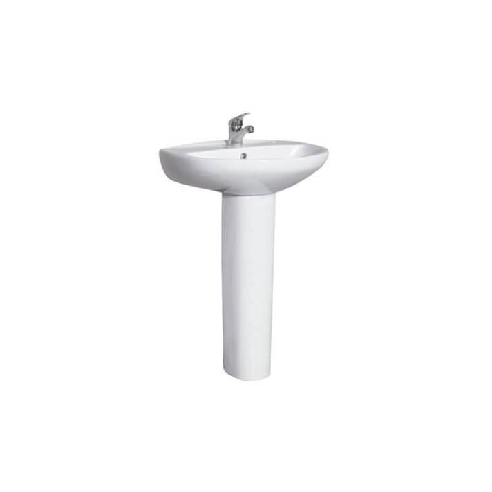 Lavabo con pedestal de porcelana Ideal Tegler