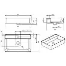 Lavabo rectangular Sanlife 60x40 (orificio)