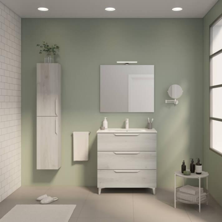 Móvel de casa de banho 3 gavetas com lavatório cerâmico Urban Royo