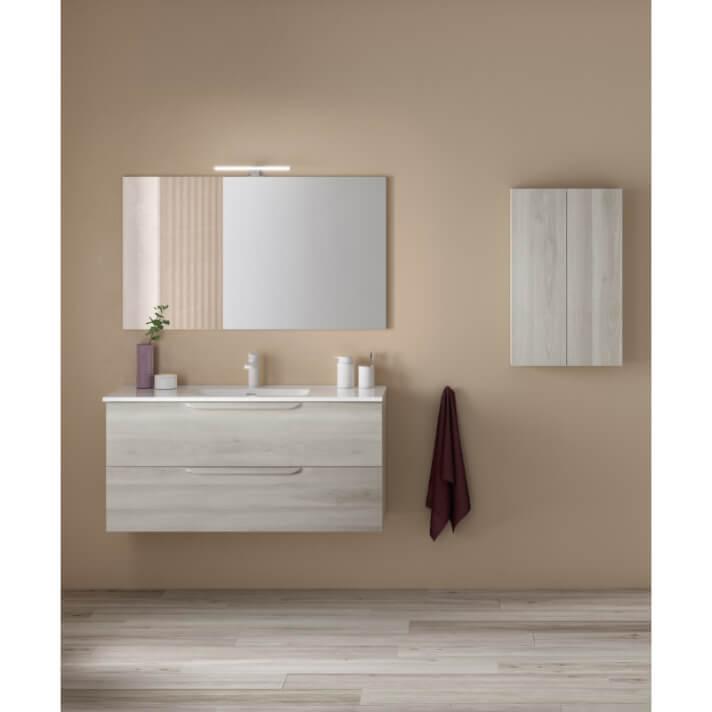Mueble de baño 2 cajones con lavabo cerámico 120cm Urban Royo