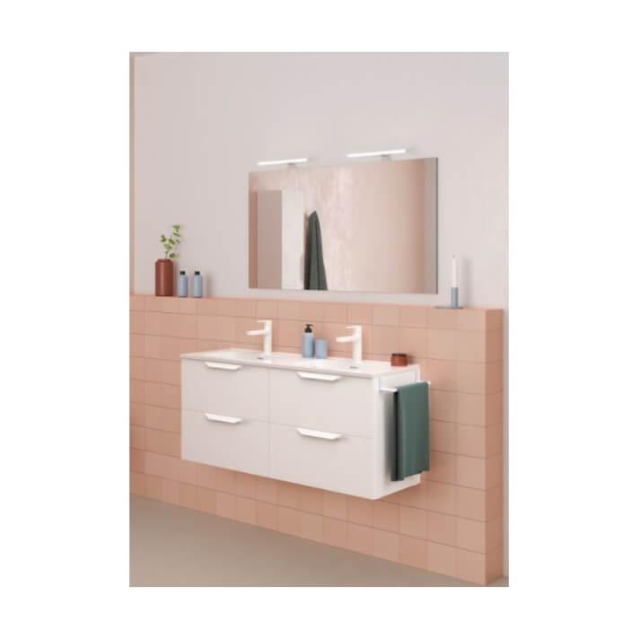 Mueble de baño 4 cajones con lavabo cerámico 2 senos 120cm Urban Royo