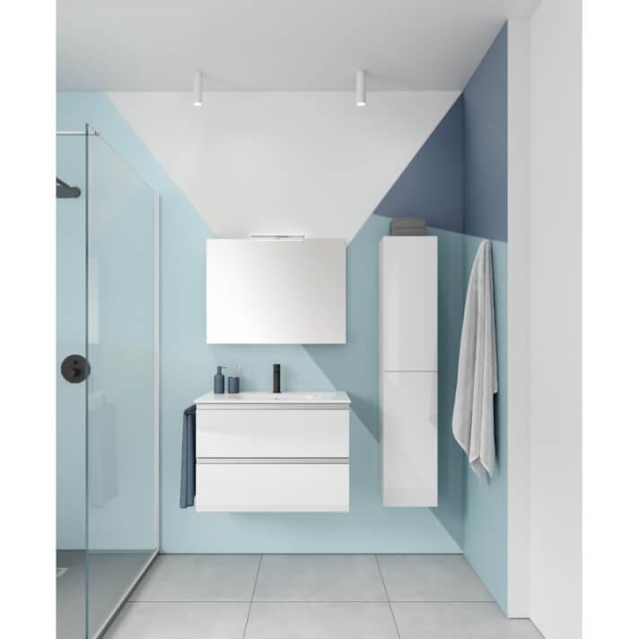 Mueble de baño 2 cajones con lavabo cerámico VIDA Compact Royo