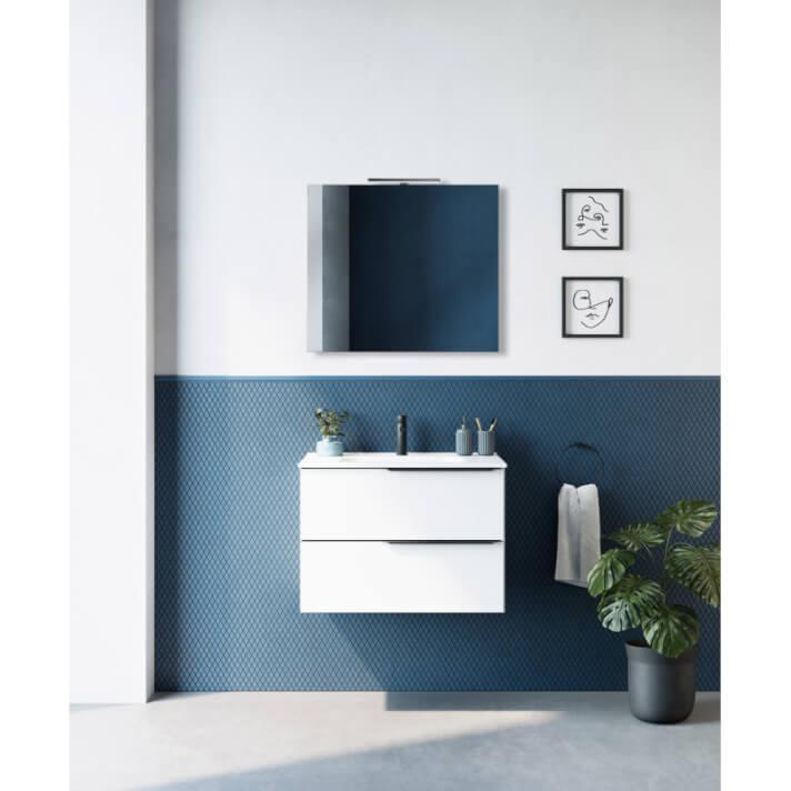 Mueble de baño 2 cajones con lavabo cerámico MIO Royo