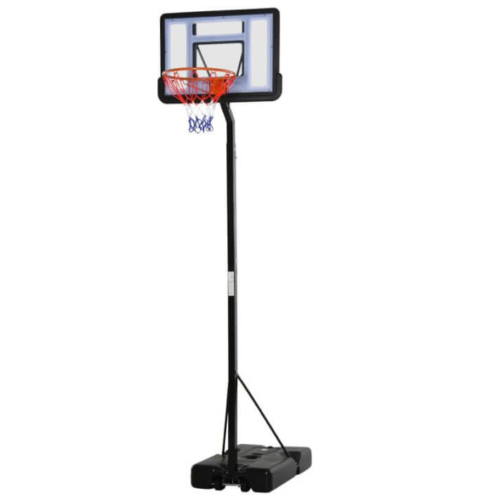 Canasta de baloncesto de altura ajustable negra HomCom