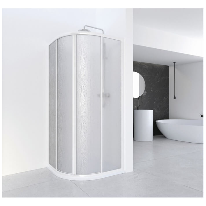 Painel de duche angular acrílico curvo CU acrílico - PROFILTEK