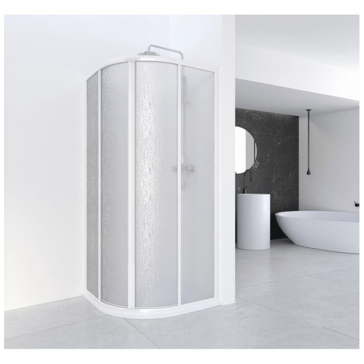 Mampara angular curva para ducha CUMUS Profiltek