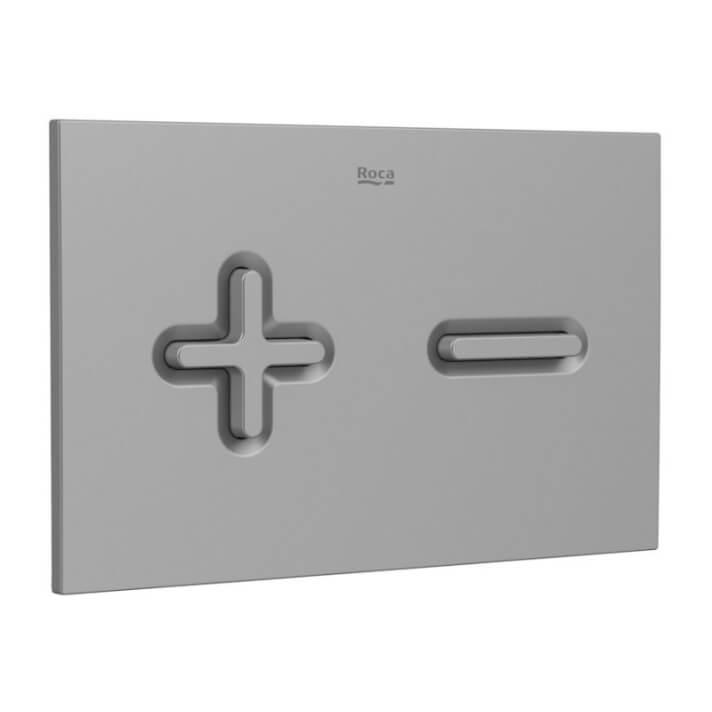 Placa PL6 Dual color lacado gris One Roca